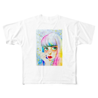 夢見るあの子 Full graphic T-shirts