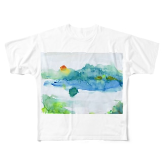 心の摩周湖 Full graphic T-shirts