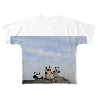 石ころパンダ Full graphic T-shirts