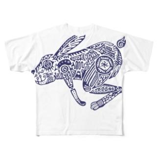 兎 Full graphic T-shirts