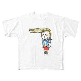 ミルクレープ王子 Full graphic T-shirts