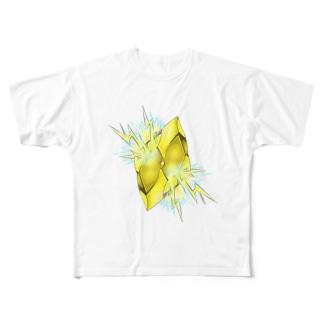 フェイクディガー「雷の黄色い宝石」 Full graphic T-shirts