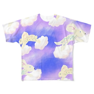 空飛ぶ動物達💮 Full graphic T-shirts
