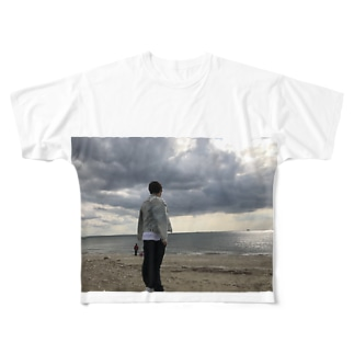 幕張の海 Full graphic T-shirts