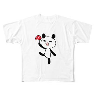 きのこパンダ Full graphic T-shirts