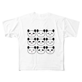 表情パンダ Full graphic T-shirts