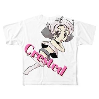 クレステッドちゃん Full graphic T-shirts