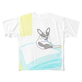 ハチ帰省 Full graphic T-shirts