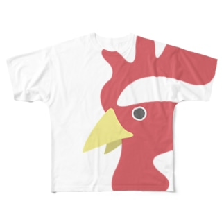 にわとり酉 Full graphic T-shirts