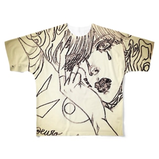 Dazzleぐちゃぐちゃver Full graphic T-shirts
