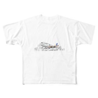 青い空に託した約束。 Full graphic T-shirts