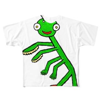 カマキリさん Full graphic T-shirts