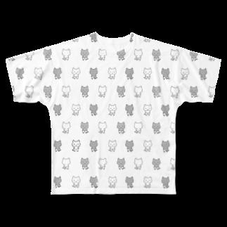 ねこぱんつのねこぱんつ柄 Full graphic T-shirts