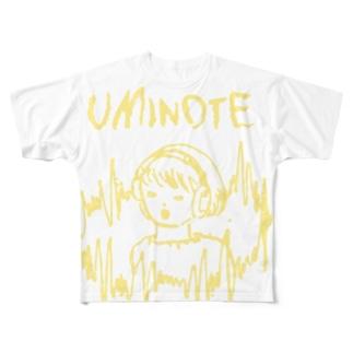 うみのて「サラウンドちゃん」 Full graphic T-shirts