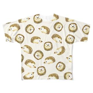 ハリネズミT Full graphic T-shirts