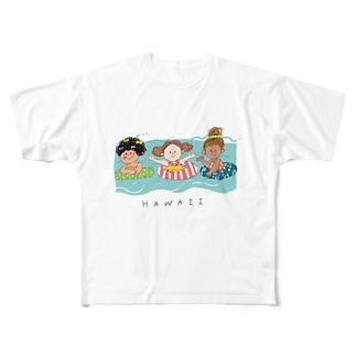 ハワイ Full graphic T-shirts