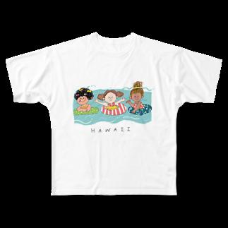 ishiのハワイ Full graphic T-shirts