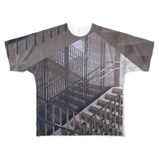 かいだん-2 Full graphic T-shirts