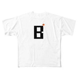 Bダッシュサロンロゴ Full graphic T-shirts