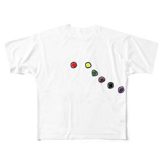 12誘導(胸部のみ) Full graphic T-shirts