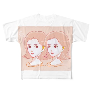 pink girls Full graphic T-shirts