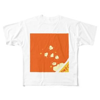 ポップコーーーーン! Full graphic T-shirts