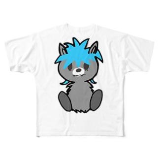 ロシアンウルフ Full graphic T-shirts
