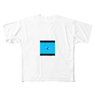 飛行機 Full graphic T-shirts