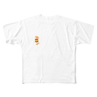 ハンバーガー君 Full graphic T-shirts