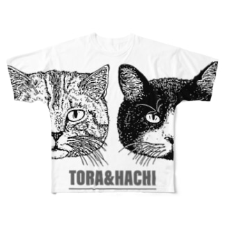 トラとハチ Full graphic T-shirts