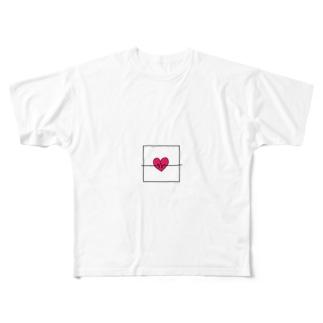 ライラック Full graphic T-shirts