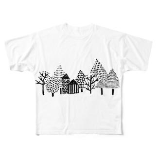 ゆきのふるまち Full graphic T-shirts