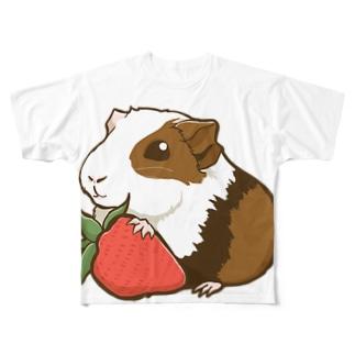 イチゴ×モルモット Full graphic T-shirts