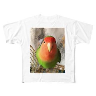 インコ界の用心棒、ジェイド之介 Full graphic T-shirts