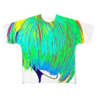 横顔のおんなのこ 2 Full graphic T-shirts