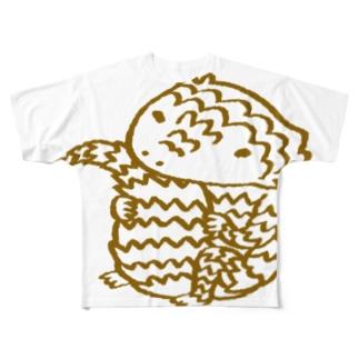 アルマジロトカゲくん Full graphic T-shirts