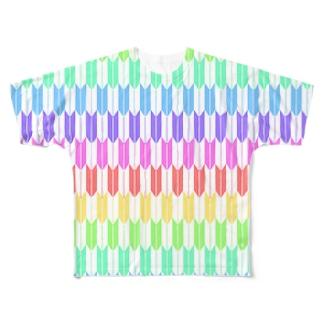 Yagasuri(Pastel Rainbow) フルグラフィックTシャツ