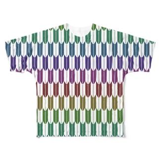 Yagasuri(Vintage Rainbow) フルグラフィックTシャツ