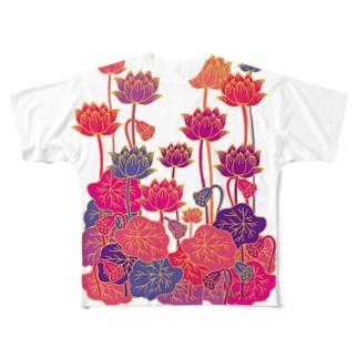 蓮 Full graphic T-shirts