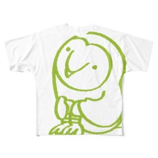 メンフクロウさん Full graphic T-shirts