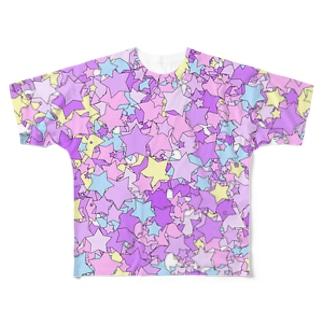 Stars(Pop & YumeKawaii color) フルグラフィックTシャツ