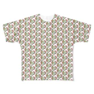 トロピカル モルモット Full graphic T-shirts