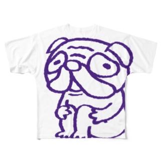 パグさん Full graphic T-shirts