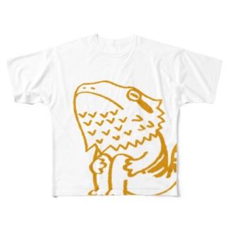 フトアゴヒゲトカゲくん Full graphic T-shirts