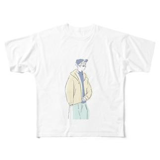 シティボーイに憧れて Full graphic T-shirts