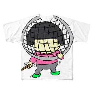 フェンシングごっこ Full graphic T-shirts