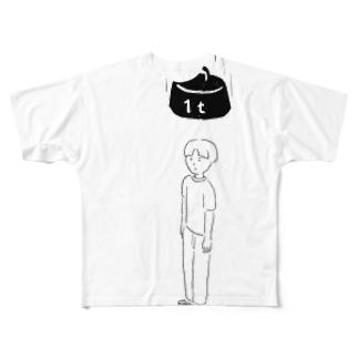低気圧は頭が痛い Full graphic T-shirts