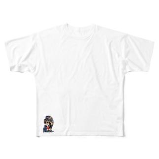 ポニテっ子 Full graphic T-shirts