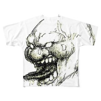 正義の味方・餡 Full graphic T-shirts