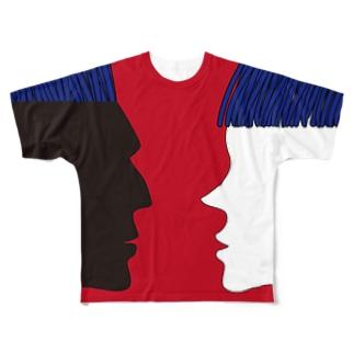 Man & Women 赤 Full graphic T-shirts